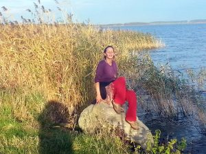 Monika Hoffman am Meer
