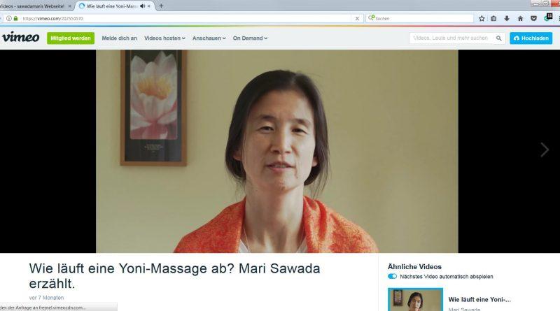 Mari Sawada erklärt den Ablauf der Yoni-Massage