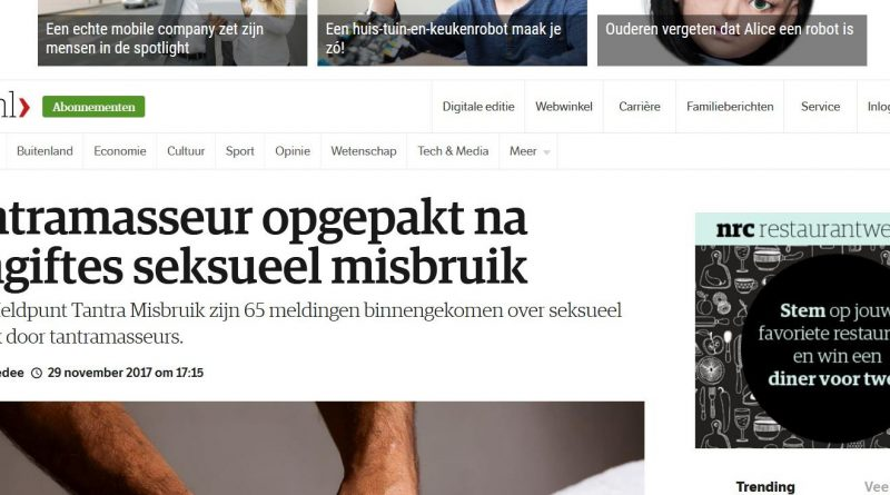 Screenshot NRC.nl Missbrauch Tantramasseur Festnahme Niederlande