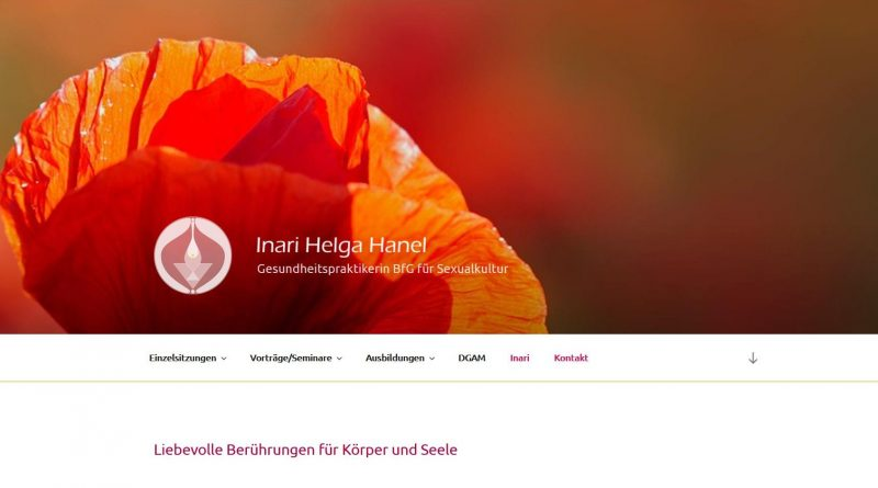 Inaria Hanel Webseite Screenshot