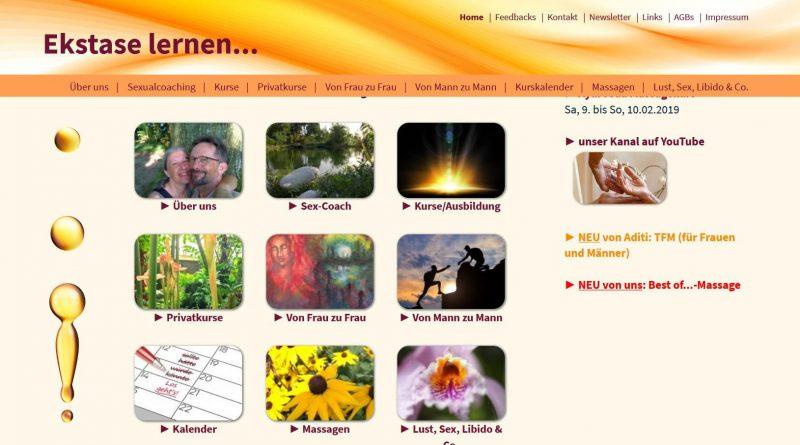 Screenshot Ekstase-Lernen SChweiz Kurse mit Aditi Hierling