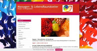 screenshot webseite agape ausbildung berührung für Menschen mit handicap