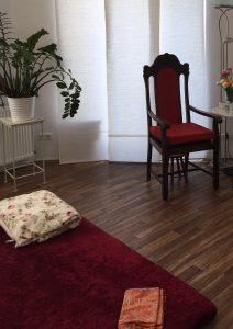 Bodenmatte im Raum für Vaginal-Steaming Köln